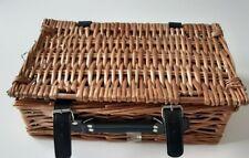 WICKER GIFT PICNIC BASKET Straps & Handle, Hamper, Gift, Storage