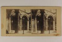 Italia Palazzo Vecchio Firenze Cour c1860 Foto Stereo Vintage Albumina