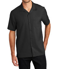 Men's Relaxed Fit Lightweight Performance Camp Shirt Button Front Cool