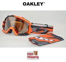 OAKLEY® PROVEN™ GOGGLES MX ATV MOTOCROSS MOTORCYCLE DIRT KTM ORANGE W/ MIRROR
