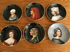 Occupied Japan Miniature Porcelain Decorative Wall Plate Set SGK China Portraits