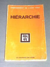 Esotérisme Enseignement de l'Agni Yoga Hiérarchie Le Courrier du livre 1970
