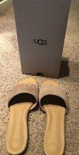 NIB UGG Australia Sandal Flip Flop Binx Fringe Slide Suede 1015055 Size 9