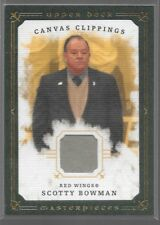 08/09 Masterpieces Green Canvas Clippings Jersey Scotty Bowman /85 CC-SB1 Wings