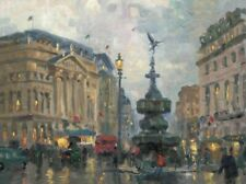 Piccadilly Circus London Thomas Kinkade 12x16 Canvas Lithograph