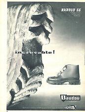 PUBLICITE ADVERTISING 024  1962   BAUDOU    bottes  BARDOU 56