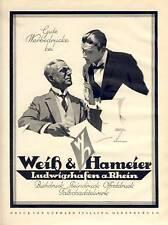 Große Ludwig Hohlwein Reklame 1926 Ludwigshafen Hameier (N)
