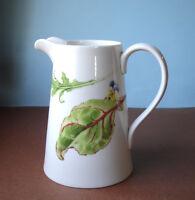 "Wedgwood CHELSEA GARDEN Pitcher Jug Vase 1.5 pt. 6.5"" H. New in Box"