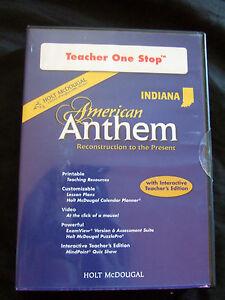 New  American Anthem Indiana Teacher 1 stop plans,games,planner,quiz