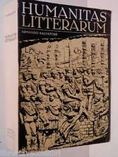 HUMANITAS LITTERARUM Antologia della letteratura latina Armando Salvatore 1969