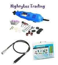 Silverline Multi Purpose Rotary Craft Hobby Tool Dremel Compatible + kit + flexi
