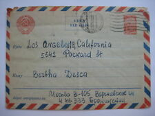 Russia Postal Stationery Cover Moscow Los Angeles 1967