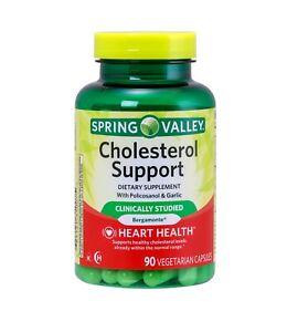 Spring Valley - Cholesterol Support - 90 Vegetarian Capsules - Bergamonte