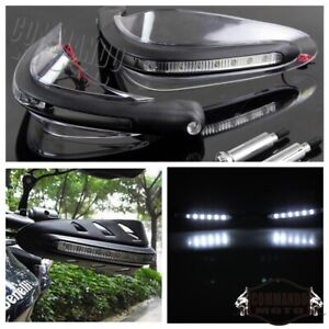 Motorcycle LED Hand Guard Shield 22mm 7/8 with Turn Signal Light Universal