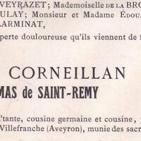 Rose-Marie De Corneillan Joseph De Campmas De Saint-Remy Orlhonac Aveyron 1911