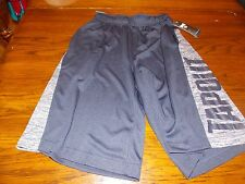 New Mens TapOut Black MMA Long Athletic Workout Drawstring Shorts Size SMALL