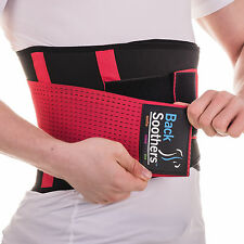 BackSoothers® BackPro Massaging Lumbar Lower Neoprene Back Support Brace Belt