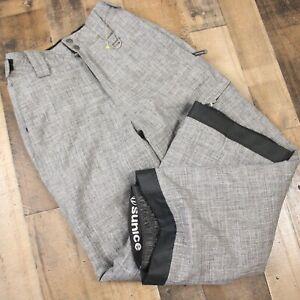 Sunice Snowboard Ski Snow Pants Extendable Hem Youth Boys Sz 14 Gray Adjustable