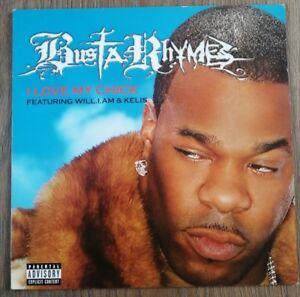 "BUSTA RHYMES 12"" Vinyl Single 2006 I LOVE MY CHICK"
