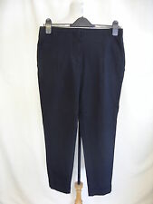 """Ladies Trousers Zara M black straight office wear inside leg 26"""" waist 30"""" 0210"""