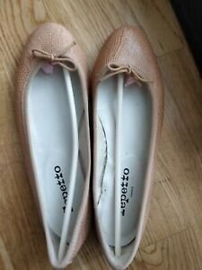 lizard embossed repetto flats good condition chic size 38 (UK5)