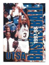 1997-98 Univ of Texas San Antonio Basketball Folding Pocket Schedule-Coca-Cola!