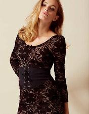 AGENT PROVOCATEUR BLACK AUDREY WASPIE DRESS SIZE MEDIUM 10 RRP £495