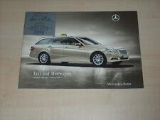 47715) Mercedes B-Klasse E-Klasse Taxi Preise & Extras Prospekt 02/2010