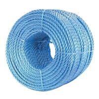 220m x 5mm BLUE POLYPROPYLENE ROPE TRADESMAN MULTI PURPOSE TWISTED