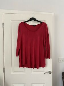 Size 20 Evans Red Tunic Top