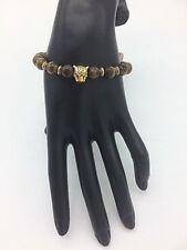 Boho Style Beaded Bracelet 'Gold Tiger/Tiger Eye'
