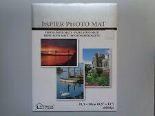 "Photo Paper Glossy Matt (8.5"" x 11"") 8 Sheets New - Free P&P"