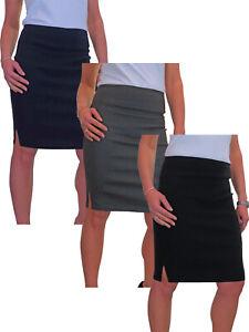 Womens Stretch Pencil Skirt School Office Girls NEW Sizes 6-18