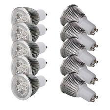 10Pcs GU10 5x1W 85-266V 6000K LED Light Bulb Lamp Pure White Spotlight