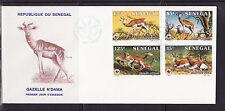 ASg/ Sénégal   gde  enveloppe  1er jour faune gazelle n'dama   1986