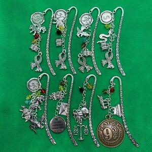 Harry Potter Charms Bookmark - Hogwarts Metal - Gryffindor Slytherin - BRAND NEW