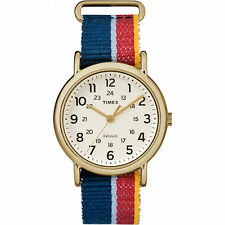 Timex Weekender | Red/Blue Slip-Through Strap 24-Hour | Casual Watch TW2R10100