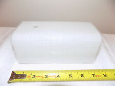 """HH-007 White Ceiling/Wall Rectangle GLASS LAMP SHADE 7"""" x 4"""""""