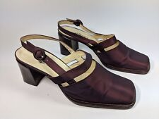 Audley London Purple Mid Heel Slingback Shoes Uk 5 Eu 38