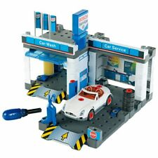 Bosch Car Service Centre & Car Wash Set 8647 With Car & Tyres Testing Equipment