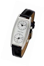 Gotham Women's Silver-Tone Dual Time Zone Leather Strap Watch # GWC15091SB
