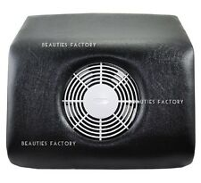 Pure Black Nail Dust Powder Suction Collector w/ Acrylic Brush Free Gift #72BK