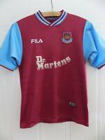 West Ham United 2001 2002 Home Shirt Fila JOHN Football Soccer Original Jersey