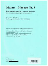 Blechbläser - Brass - Trio Mozart Menuett Nr. 5 Noten
