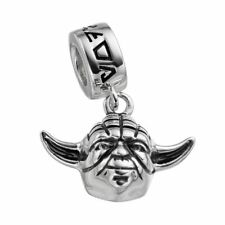 New Authentic Disney Solid Sterling Silver Yoda Star Wars Bead Charm