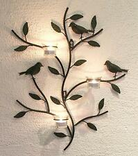 Soporte de pared para velas té 131002 PORTAVELAS METAL 57cm candelabro Candelero