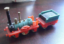 "Vintage 1970s Ferrero Plastic Small Old Fashion Locomotive and Tender 2 3/4"" L"