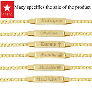 Baby bracelet 14k personalized baby bracelet Name plate Bracelet Gold Plate