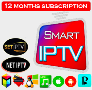 SMART IP TV 12 MOIS ABONNEMENT, Toutes Les Applications 40k Chaînes, M3U lien