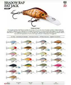 Rapala Shadow Rap Fat Jack // SDRFJ04 // 4cm 4g Fishing Lures (Choice Of Colors)